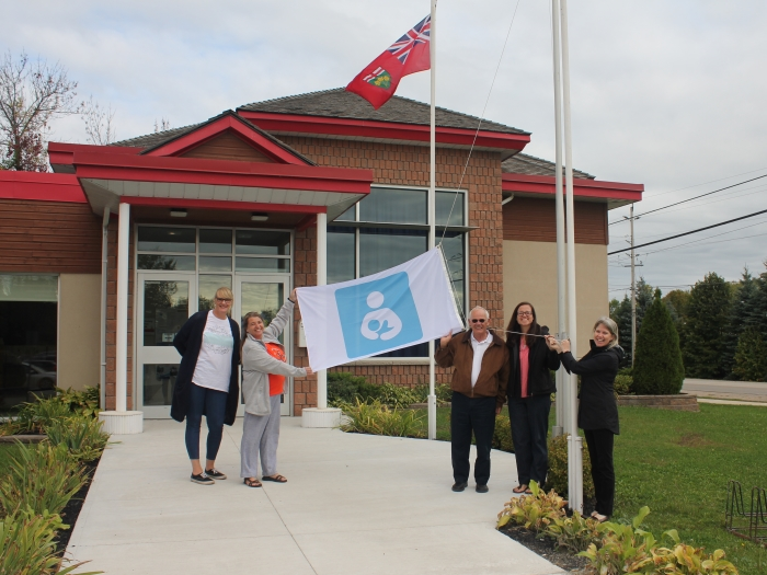 Tay Township raises flag and proclaims October 1 to 7 as National Breastfeeding Week